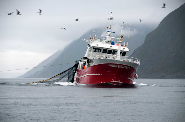 Fishing boat in norway